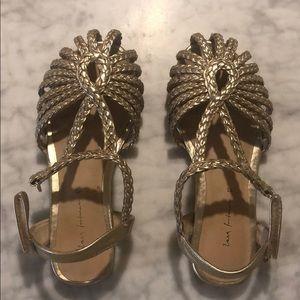 Zara girls gold sandals